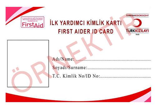 Türk Kızılayı Sertifika Örneği